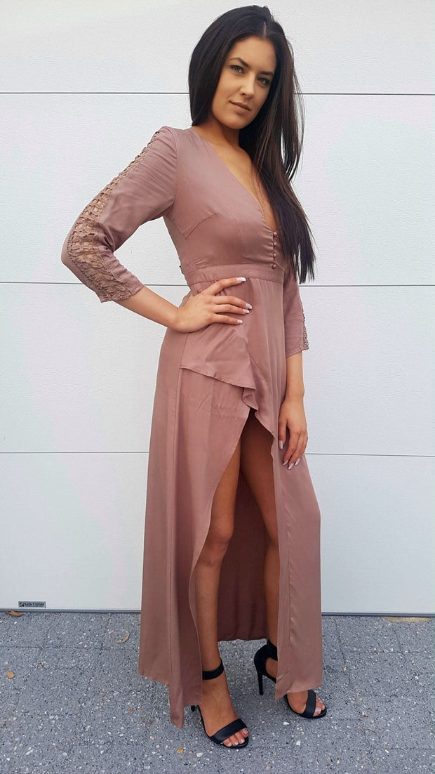 Dress - Lovers Lane Dress Mocha