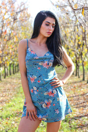 Dress - Sariyah Dress In Floral Blue