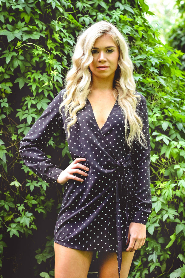 Dress - Together Wrap Dress In Black
