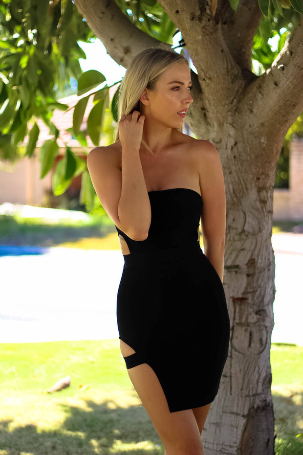 Dress - Unpredictable Dress In Black