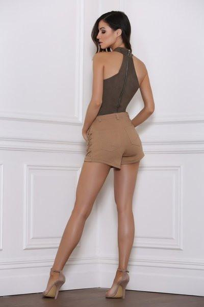 Top - Random Bodysuit In Khaki