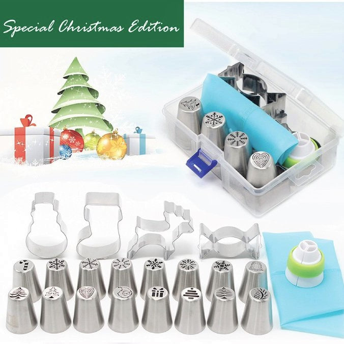 Limited Edition 20 Pieces Christmas Style Nozzle Kit