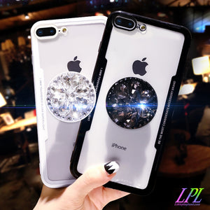 Mirror Diamond Airbag Bracket Phone Case