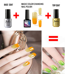 Professional With This Magic Color Changing Nail Polish When Tip Is Higher Than 31c Warm Show Lower Cold