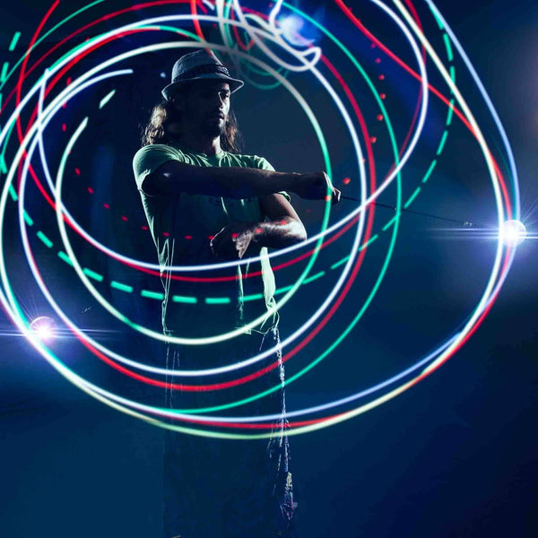 2 Pcs LED POI Thrown Balls