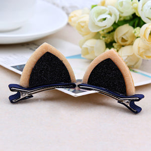 Clip-on Cat Ear Barrettes