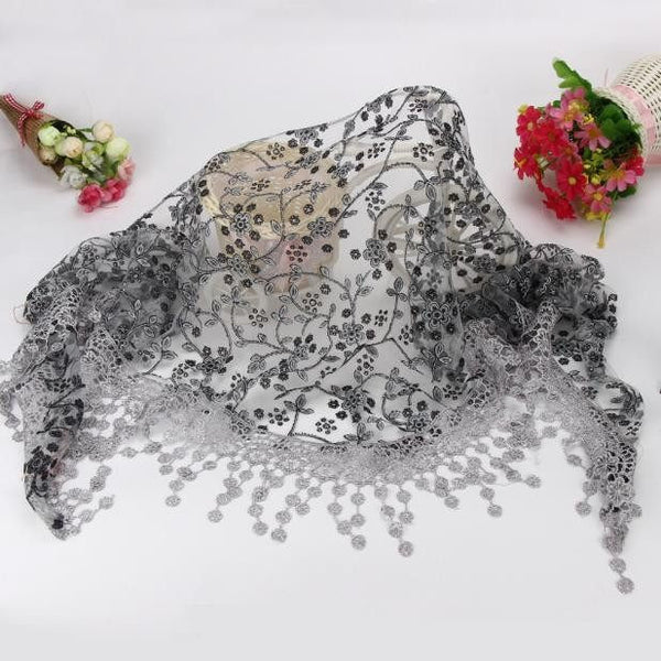 Embroidery Lace Wrap