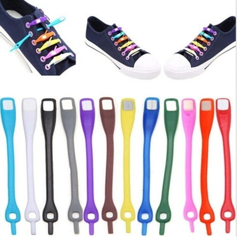 Auto Tie Shoelaces (1 pair / 12 pcs)