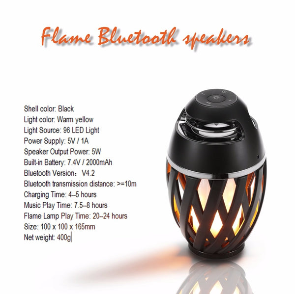 LED Flame Lamp with Bluetooth Speaker