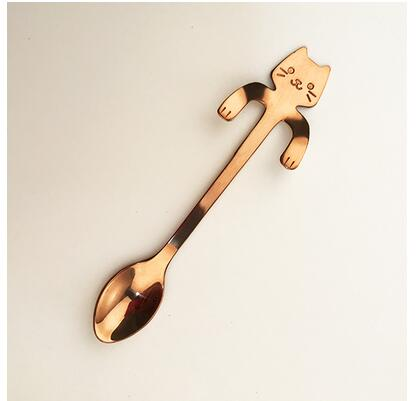 Creative Cat Design Coffee & Tea Spoon Set