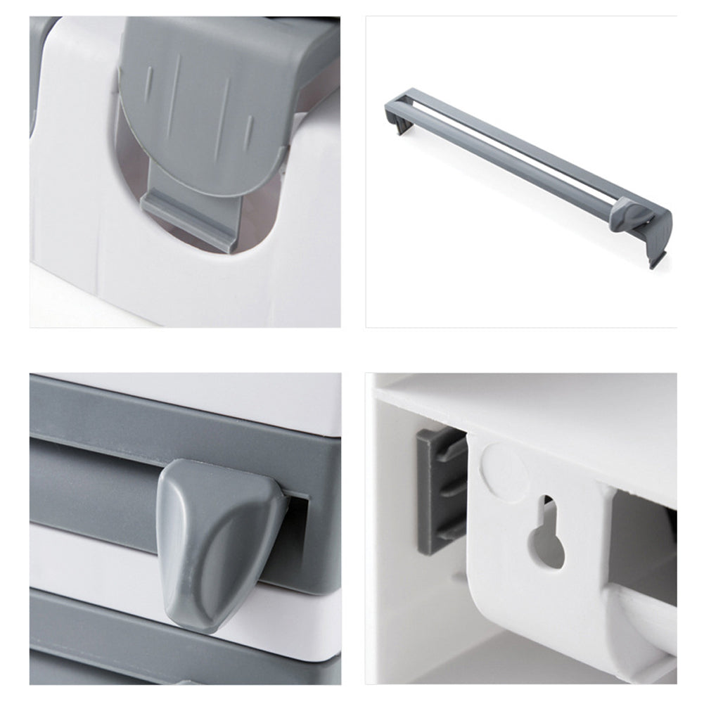 4-in-1 Wall-Mount Paper Towel Holder