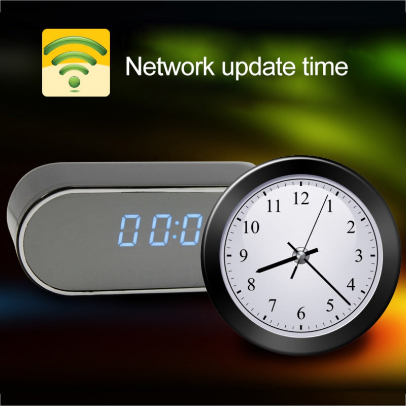 Wifi Alarm Clock With HD 1080P Night Vision Camera-