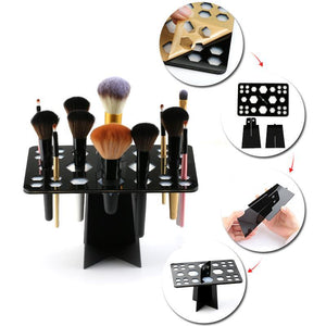 Acrylic Make Up Brush Drying Rack