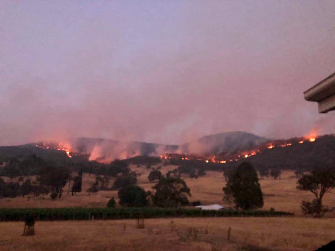 Bushfires threatening our vineyards - 9 January 2020
