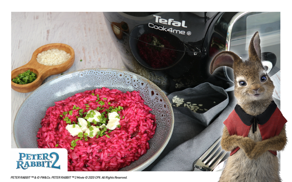 Flopsy's Beetroot Risotto with Mascarpone Cheese