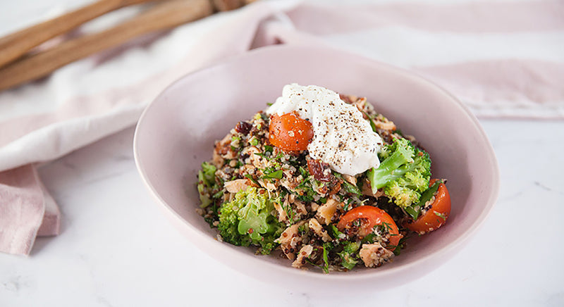 Warm Quinoa and Salmon Salad