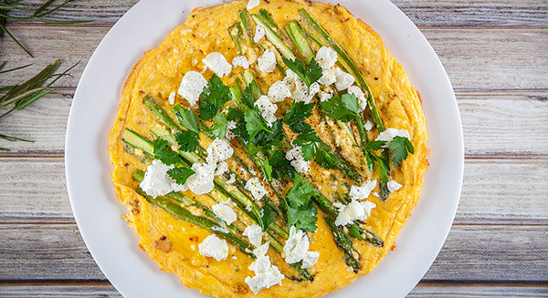 Asparagus and Goats Cheese Frittata
