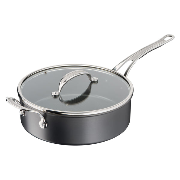 Jamie Oliver by Tefal Cooks Classic Non-Stick Induction Hard Anodised Sautepan with lid 26cm