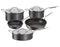 Jamie Oliver by Tefal Cooks Classic Non-Stick Induction Hard Anodised 5pc Cookware Set