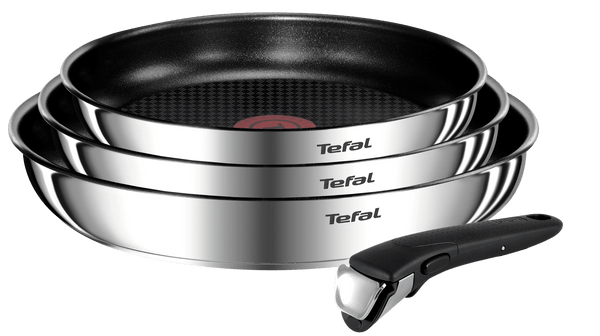 Tefal Ingenio Emotion Non-stick Stainless Steel Induction 4-piece Frypan Set
