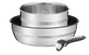 Jamie Oliver by Tefal Ingenio Stainless Steel Induction 3pc Pot Set