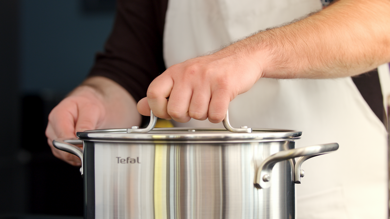 Tefal Virtuoso Stainless Steel Induction Stewpot 24cm/4.7L + lid