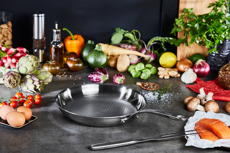 Tefal Eternal Mesh Stainless Steel Induction Frypan 24cm