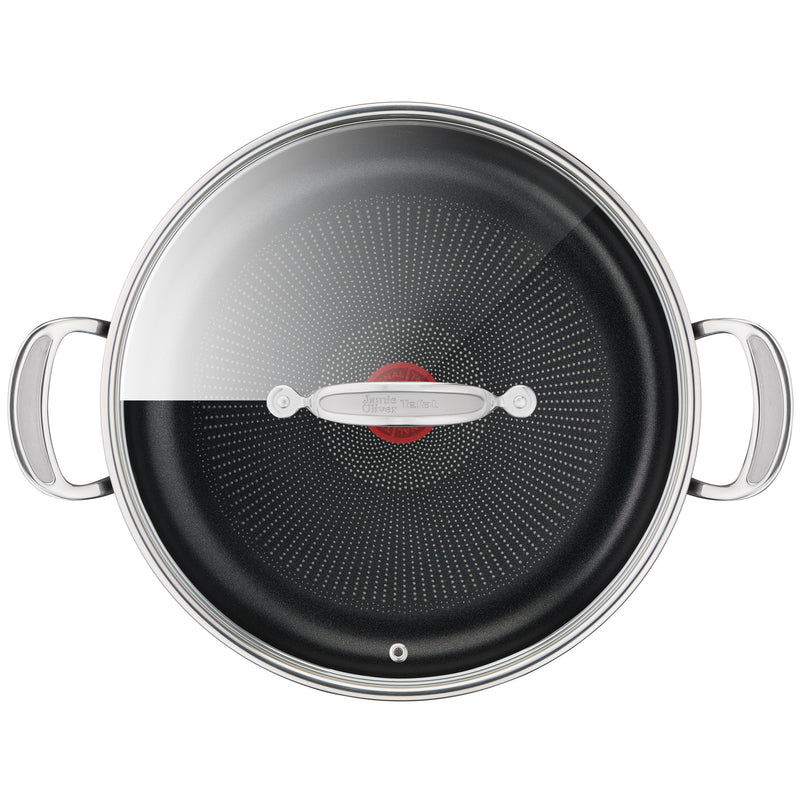 Jamie Oliver by Tefal Cooks Classic Non-Stick Induction Hard Anodised Shallowpan + lid 30cm