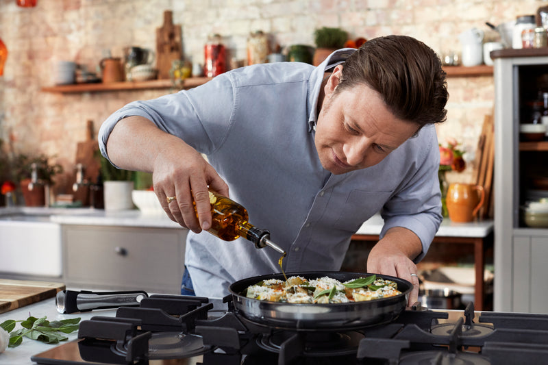 Jamie Oliver by Tefal Ingenio Stainless Steel Induction 3pc Frypan Set