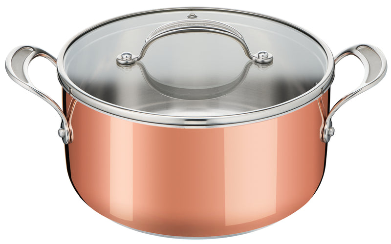 Jamie Oliver by Tefal Premium Triply Copper Induction Stewpot 24cm + Lid
