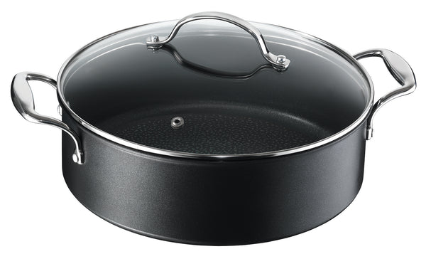 Tefal French Heritage Non-Stick Induction Shallow Pan 28cm + Lid