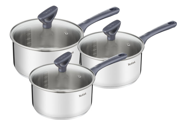 Tefal Daily Cook Stainless Steel Induction Saucepans - 16/18/20cm