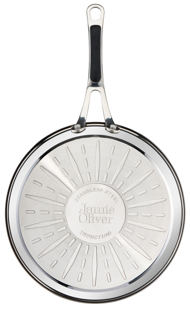 Jamie Oliver by Tefal Premium Stainless Steel Induction Frying Pan 26cm