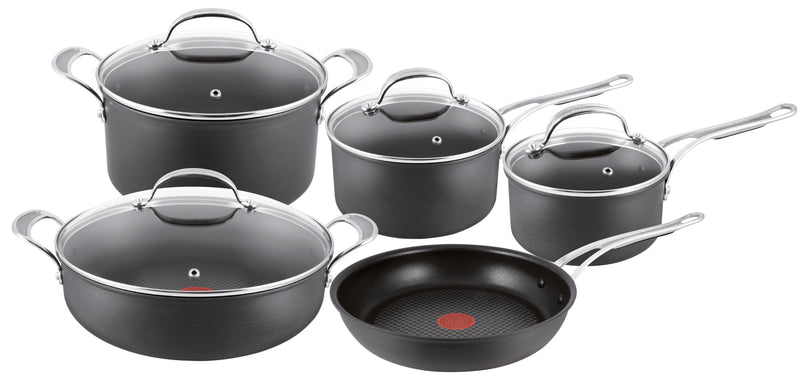 Jamie Oliver Premium Hard Anodised Induction 5 Piece Set w/ Pot Roast