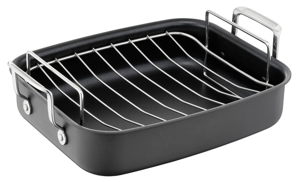 Jamie Oliver by Tefal Premium Hard Anodised Roaster & Rack 26x32 cm - H9029582