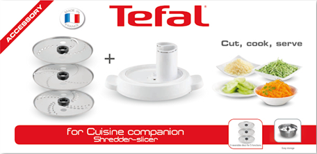 Tefal Cuisine Companion Accessory - Shredder Slicer Attachment - XF3851