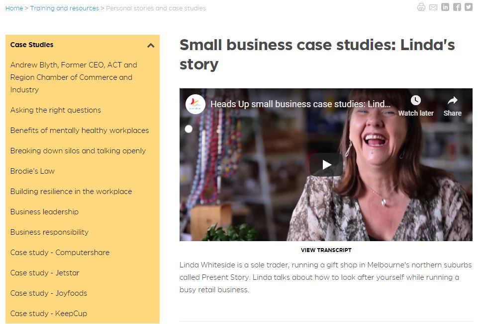 Present Story supports small business mental health