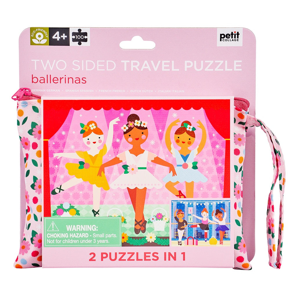 Two Sided On the Go Puzzle - Ballerina
