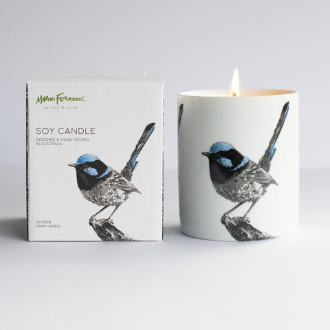 Superb Fairy Wren Soy Candle