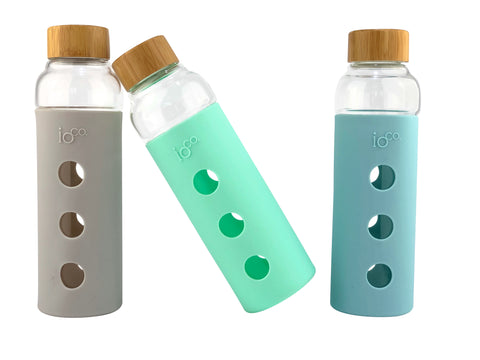 Glass Water Bottle 600mls