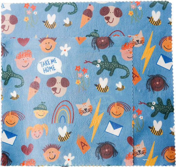 Kids Pattern Beeswax Wrap Pack