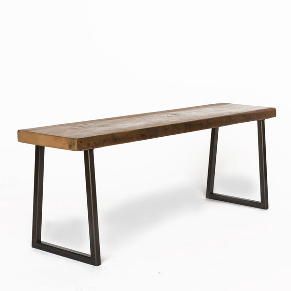Gentil Brooklyn Modern Rustic Reclaimed Wood Bench