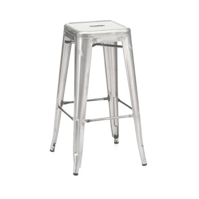 Amalfi Stackable Galvanized Steel Barstool Set of 4