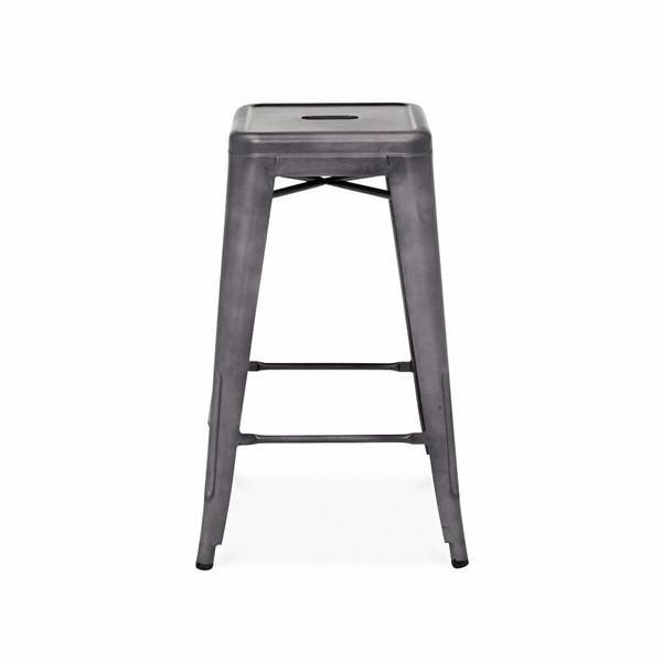 Dreux Dark Gunmetal Steel Stackable Counter Stool (Set of 4)
