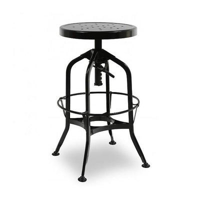 Toledo Adjustable Barstool in Black