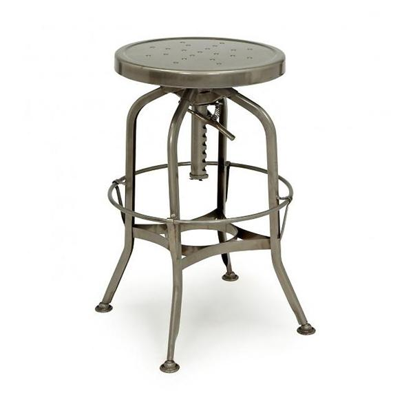 Toledo Adjustable Barstool in Gunmetal