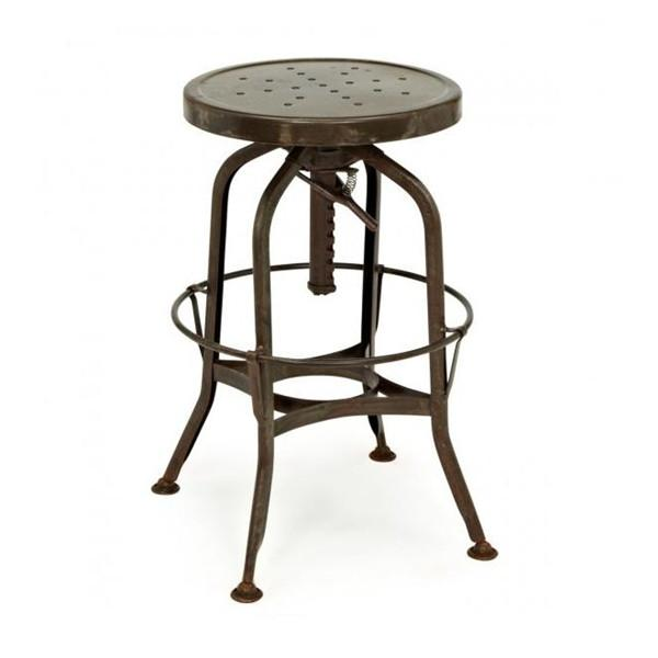 Toledo Adjustable Barstool in Rustic
