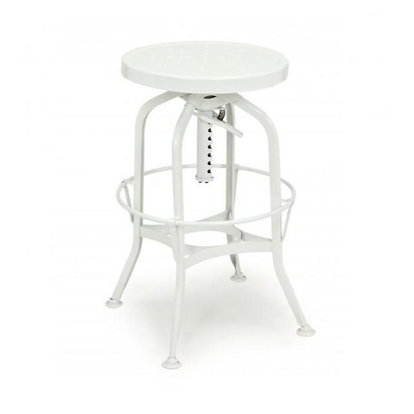Toledo Adjustable Barstool in White