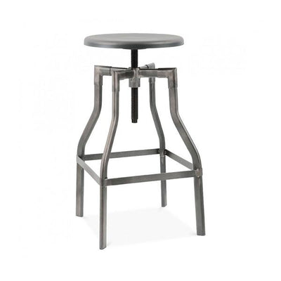 "Machinist Gunmetal Adjustable Barstool 26""-32"""