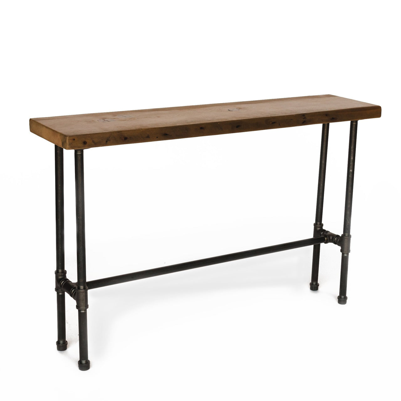 Modern Industry Console Table with Crossbar